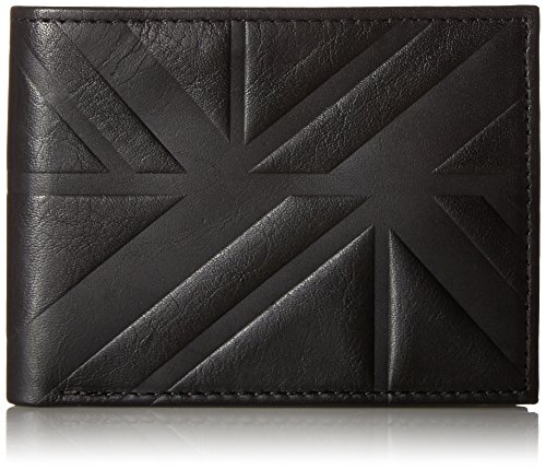 Ben Sherman Men's Woodside Park Full Grain Cowhide Leather Five Pocket Wallet with Rfid Protection, black, One - Buy Sherman Ben