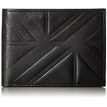 Ben Sherman Men's Woodside Park Full Grain Cowhide Leather Five Pocket Wallet with Rf