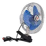 cyclamen9 Clip-On Fan,Battery Operated Clip on Mini Desk Fan Mini Stoller Fan Fully Adjustable Head, Two Quiet Speeds - Ideal For The Home, Office, Dorm(blue)