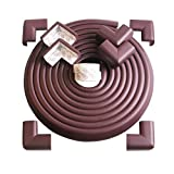 Tritina Corner and Edge Guards - 14ft (4.3m) [ 13ftEdge Cushion + 8 Corner Cushion] Premium Childproofing Protector,Child Safety,Home Safety 1st Mamami (Brown)