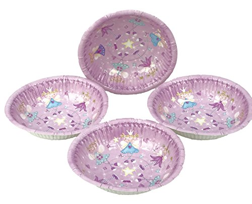 Pack Of 48 Princess / Fairy Paper Bowls For Girls Parties / Princess Parties
