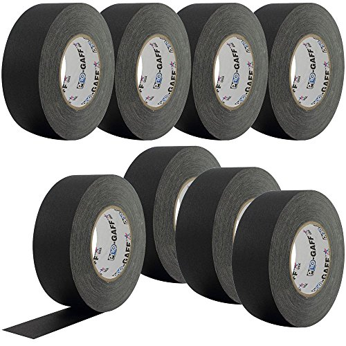 PRO Black Gaffers Stage Tape 2 Inch 55 yd 8-Pack
