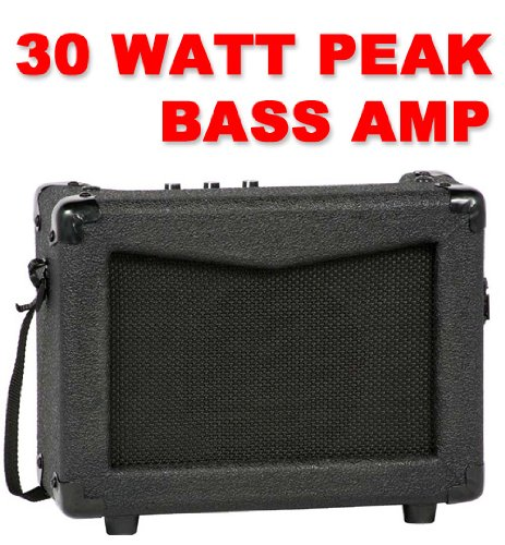Full Size Electric Bass Guitar Starter Beginner Pack with Amp Case Strap Black Package - Image 4