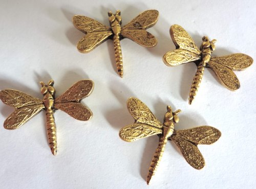 15 pieces Antique Gold DRAGONFLY Push Pins T-105AG