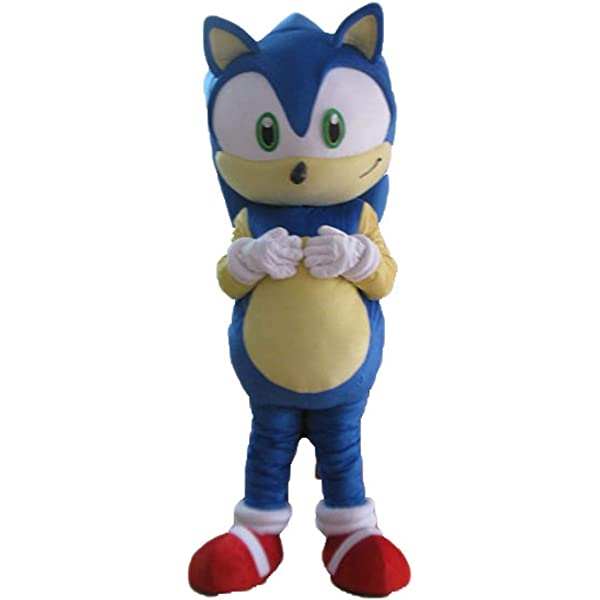 Amazon Com Adult Size Sonic X Hedgehog Mascot Costume Cartoon Costumes For Party Character Design Arismascots Clothing