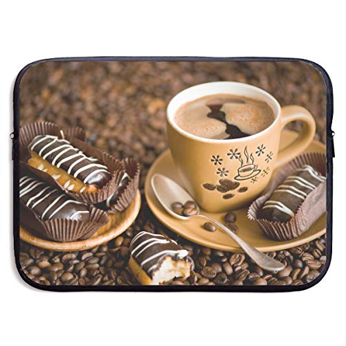 Bread Coffee Print Business Briefcase Laptop Sleeve For 13 Inch Macbook Pro Air Lenovo Samsung Sony ()