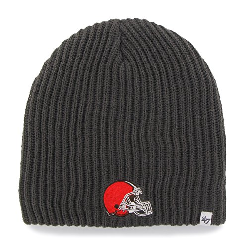 '47 NFL Cleveland Browns Caribou Beanie Knit Hat, One Size Fits Most, Charcoal
