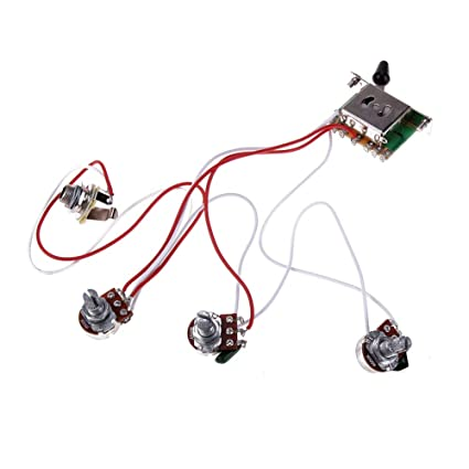 fishing accessories 1set wiring harness guitar wiring  electric guitar 500k pots control knobs