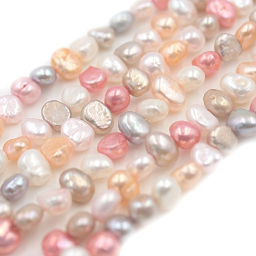 6 Strands SR BGSJ Jewelry Making Natural 6-7mm Freeform Mixed Freshwater Pearl Seed Spacer Beads Strand 15