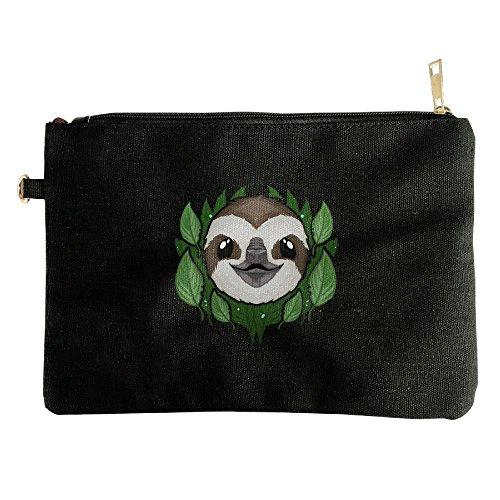 Cutes Sloth Design Canvas Zipper Pouch Pencil Bag Cosmetic Bag Travel Organization - Sunglasses Coupon Spot