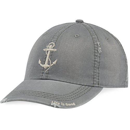 Life is good A Sun Washed Chill Anchor Slagry Hat, Slate Gray, One Size Photo #1