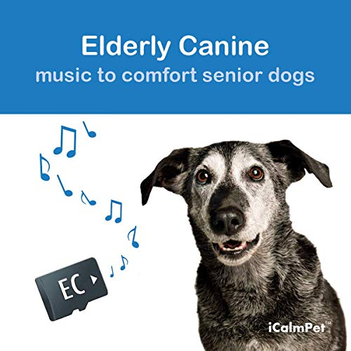 iCalmDog Elderly Canine | Music by Through a Dog's Ear | Specially-Designed Sound Program to Comfort Your Senior Dog | Micro SD Sound Card