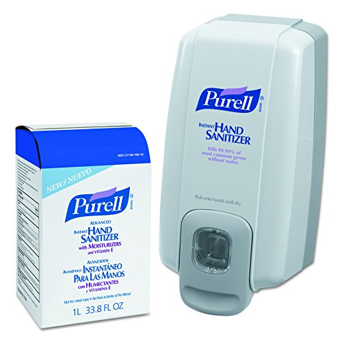PURELL 2156-D1 NXT SPACE SAVER Hand Sanitizer Dispenser and Refill, Gray/White (Space Saver Nxt)