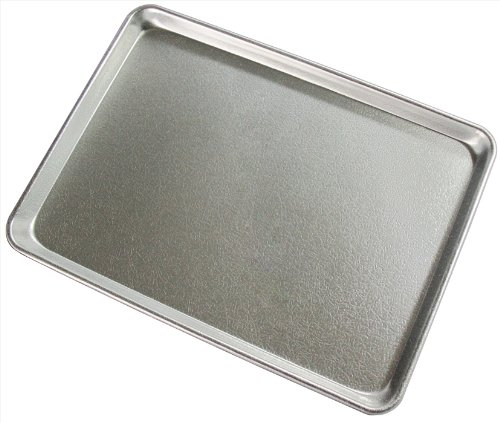 New Star Foodservice 37319 Textured Commercial Sheet Pan Display Tray, Silver Anodized, 18 x 26 inch