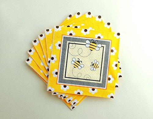 WallyE Bumble Bee Napkins, Bumble Bee Baby Shower