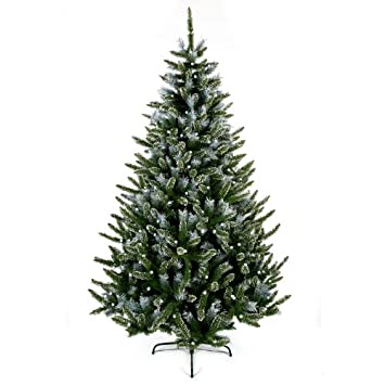 Premier Decorations - 6ft Mountain Snow Flocked & Pre-Lit Artificial Christmas  Tree - Premier Decorations - 6ft Mountain Snow Flocked & Pre-Lit Artificial