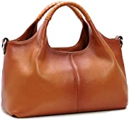 Iswee Womens Leather Handbags Tote Bag Shoulder Bag Top Handle Satchel Designer Ladies Purse Hobo Crossbody Ba