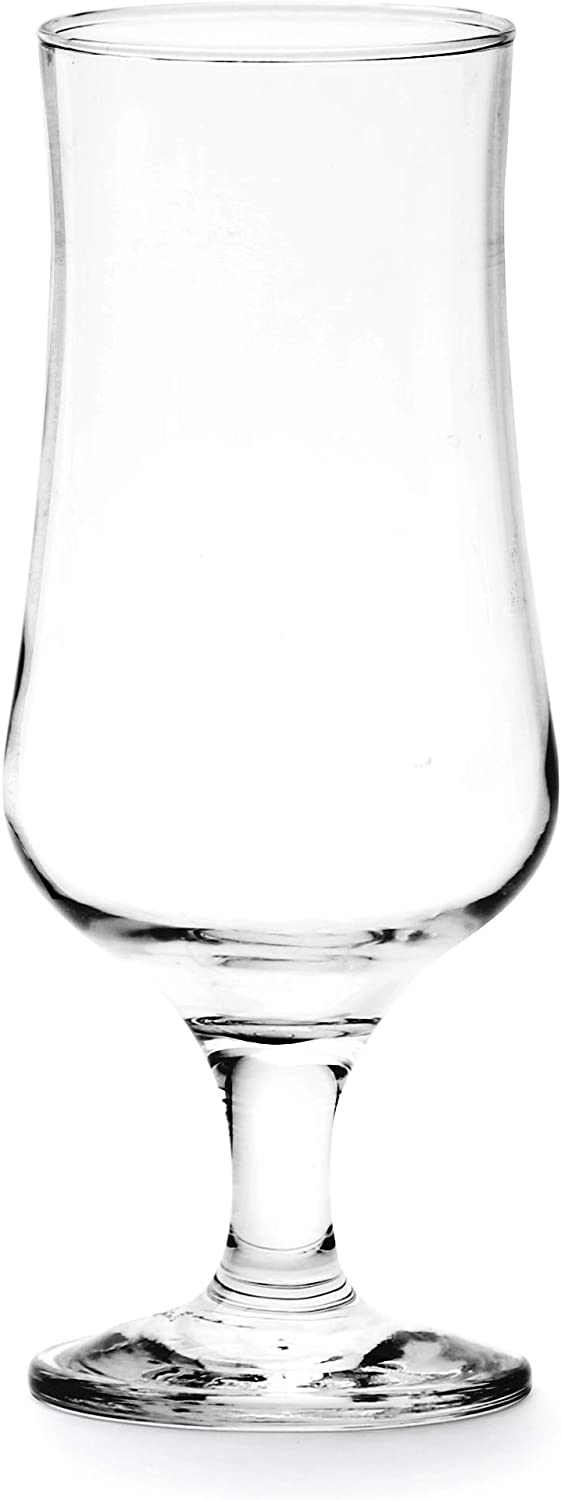 Circleware Tulipe Beer Drinking Glass Home and Kitchen Entertainment Dinnerware Highball Glassware for Water, Wine, Juice, Liquor, Dining Decor Beverage, and Best Bar Gifts, 12.75 oz, Clear