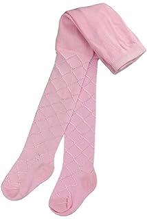 Baby Girls Tights with Diamond Pattern Pink White Cream Newborn UK Size