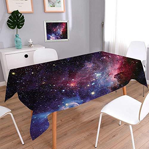 PINAFORE HOME Printed Fabric Tablecloth Image de la nébuleuse de Carina en lumière infrarouge Kitchen Decoration Washable/Rectangle, 60x 84 Inch