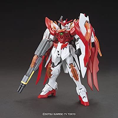 Bandai Hobby HGBF Wing Gundam Zero Flame (Honoo) Gundam Build Fighters Model Kit, 1/144 Scale: Toys & Games