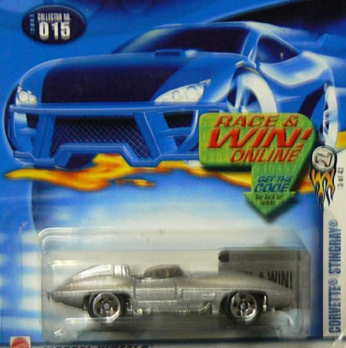 Hot Wheels 2003-015 First Editions #3 Corvette Stingray 5-Spoke Wheels Race and Win Card 1:64 Scale