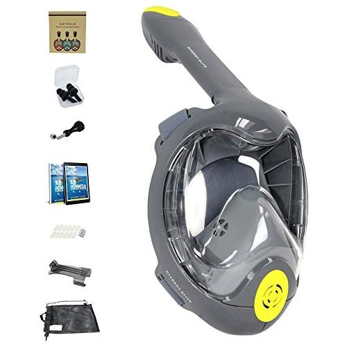 chollos oferta descuentos barato Máscara de snorkel 2018 DIVEDRY ELITE Diseño de borde Easybreath tecnología de snorkeling cara completa máscara anti niebla innovación antifugas