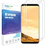 Galaxy S8 Plus Screen Protector, [2-Pack] PLESON [Case Friendly][Updated Version][Full Coverage][Bubble-Free][No Lifted Edges]Wet Applied HD film Clear Screen Protector for Samsung Galaxy S8 Plus S8+
