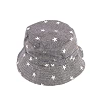 Marca west Baby Hat Small Star Baby Sun Protection Bucket Cap Baby Boy Baby Girl Hat Infant Fisherman Hat Leisure Cowboy Hat Grey