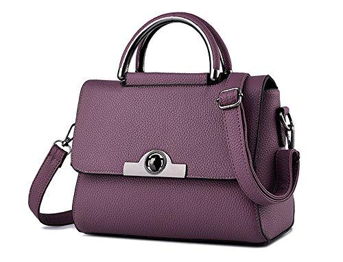 Bolsos de señora Xinmaoyuan dama bolsa Bandolera Bandolera Pequeña bolsa cuadrado Violeta