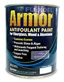 FLEXDEL CORPORATION Flexdel Armor Copper-Free Antifouling Bottom Paint (Black, Quart) 13001