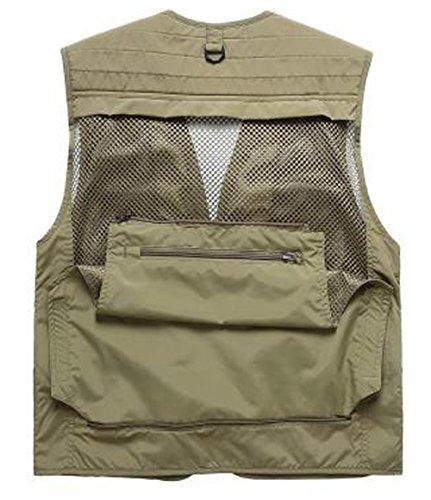 Chasse Séchage En Kaki Rapide Pêche Légère Gilet Photographie Veste Etanche Hommes Maille Multi poches Camping De Costume HRxgnpO