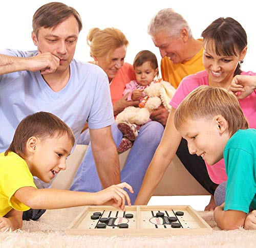 Fast Sling Puck Game Paced Sling Foosball Hockey Board Game Winner Board Games Toys for Adults Parent-Child Interactive Chess Toy Board Table Game Large Size