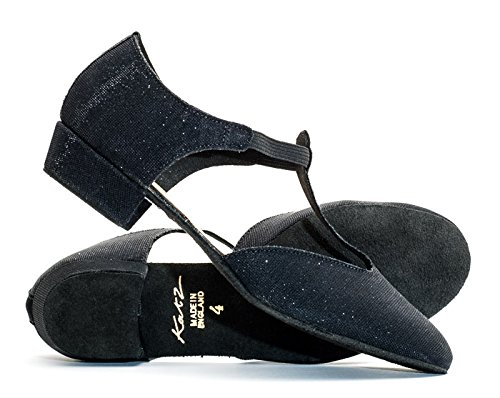 Shoe Greek Salsa Leather Dance Girls Ladies Black Jive All Glitter By Ballroom Teaching Katz Cerco Glitter Colours Dancewear Sandal R8Z4w4