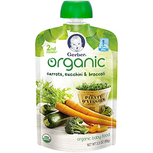 Gerber Organic Pouches Zucchini Broccoli product image