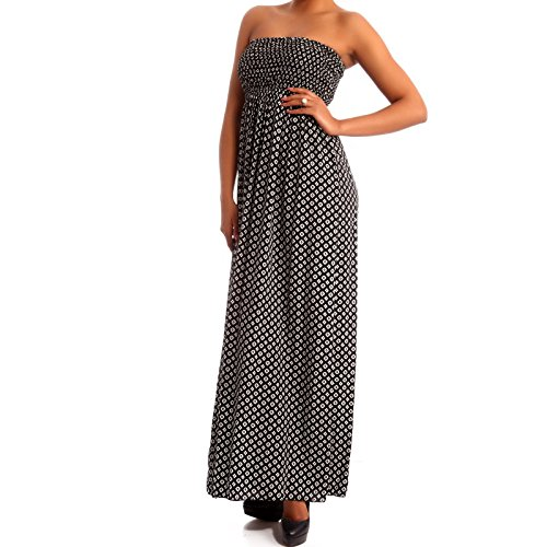 Young-Fashion - Vestido - Con cortes - Paisley - Sin mangas - para mujer negro