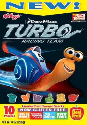 Kelloggs Fruit Snacks - Dreamworks TURBO RACING TEAM - 8oz., (2 Boxes of