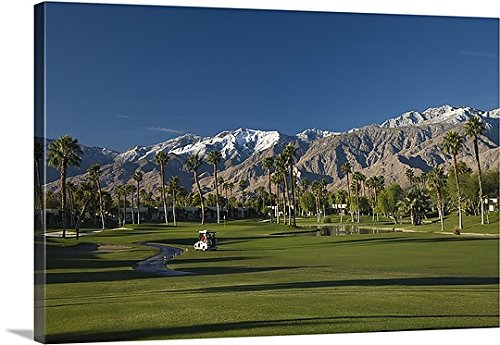 Canvas On Demand Premium Thick-Wrap Canvas Wall Art Print entitled Desert Princess Country Club, Palm Springs, Riverside County, California (Desert Princess Country Club)
