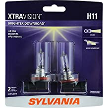 SYLVANIA H11 XtraVision Halogen Headlight Bulb, (Pack of 2)