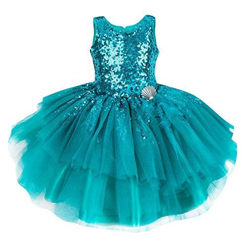 Disney Ariel Fancy Dress for Girls - The Little Mermaid Size 5/6 -