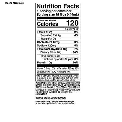 SlimCafe, Natural Energy, Mocha Macchiato, 10g of Protein,12 Count