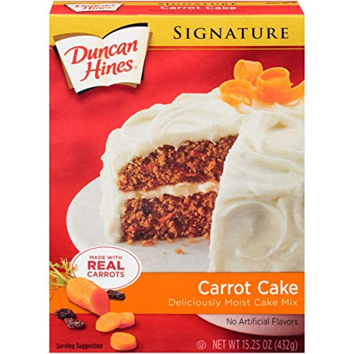 Duncan Hines Signature Carrot Cake Mix, 15.3 oz (Pack of 2)