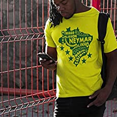 Brazil soccer t shirt Map players World cup Russia 2018 jersey camiseta Brasil.