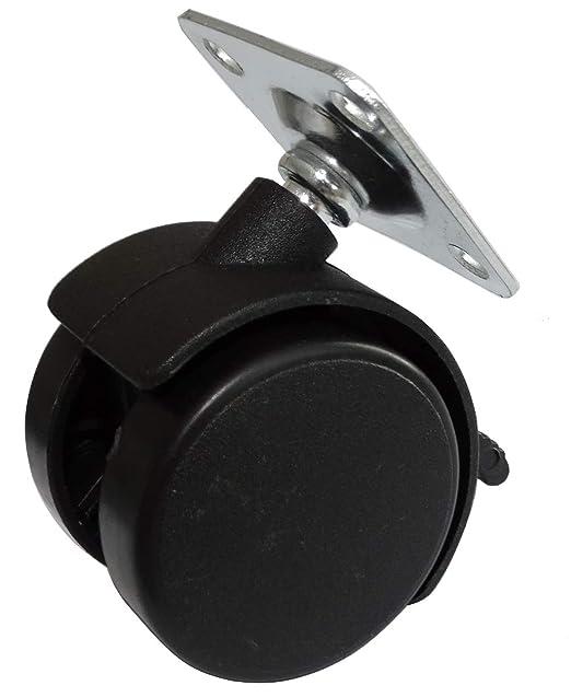 con freno di bloccaggio ruote AERZETIX 4x Ruote piroettanti girevoli torsionali per mobili /Ø40mm H55mm 25kg con piastra di montaggio 38x38mm