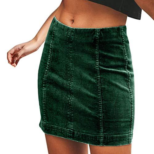 (VEZAD Women Casual Sexy High Waist Pencil Zipper Bodycon Hip Short Mini Skirt)