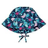 i play. Baby Girls Bucket Sun Protection Hat Navy Flamingos 0-6mo, 0/6mo