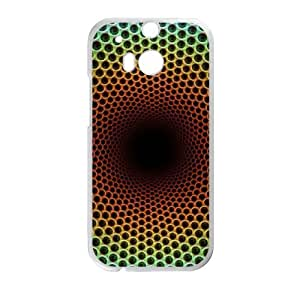 HTC One M8 cell phone cases White Optical illusion fashion phone cases URKL473785