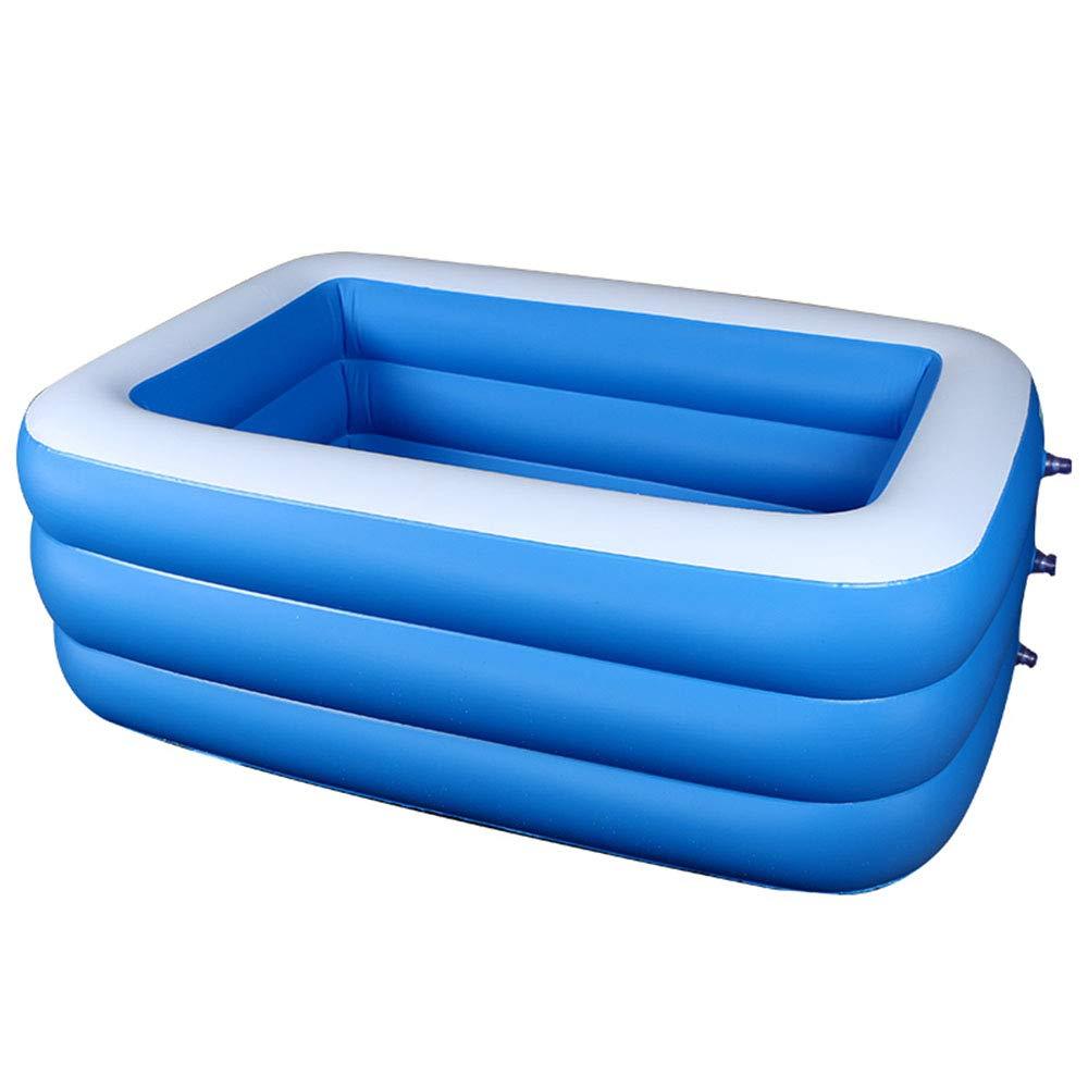 YUHAO(de) Riesiger Aufblasbarer Kinderpool - Familie Und Kinder Inflatierbarer Rechteckiger Pool(2.1m)  1.5m
