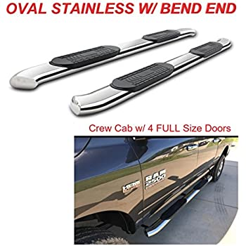 """Fit 2010-2019 Dodge RAM 2500 3500 Crew Cab 4/"""" Curved End Nerf Bar Running Board"""