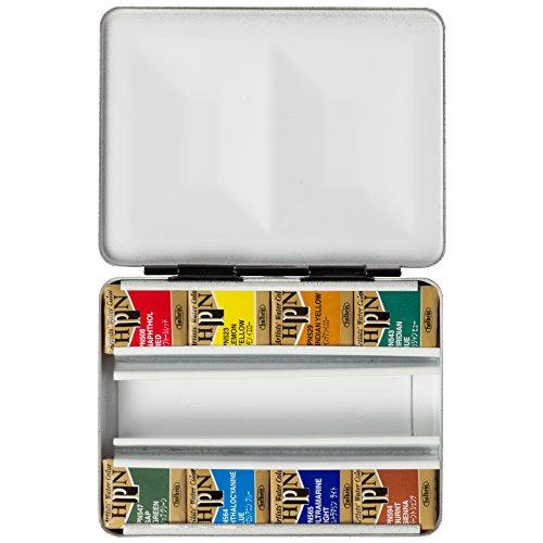 ホルベイン 固形水彩絵具 アーチストパンカラー 8色セット メタルボックス PN688 ハーフパン
